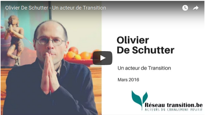 "Video ""Olivier De Schutter - Un acteur de Transition"""