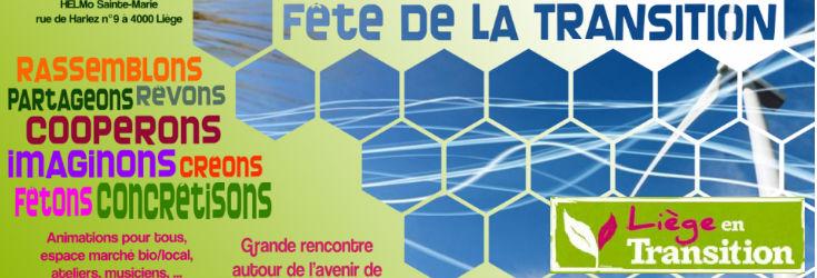 Fête de la transition à Liège ce 02 juin 2013