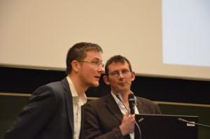 Olivier a relevé avec brio le défi de traduire la conférence en direct !