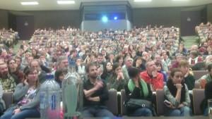 Salle comble à Namur, 600 personnes !
