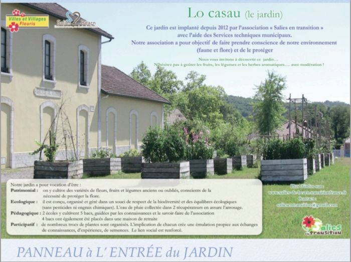 Le jardin collectif Lo Casau, France