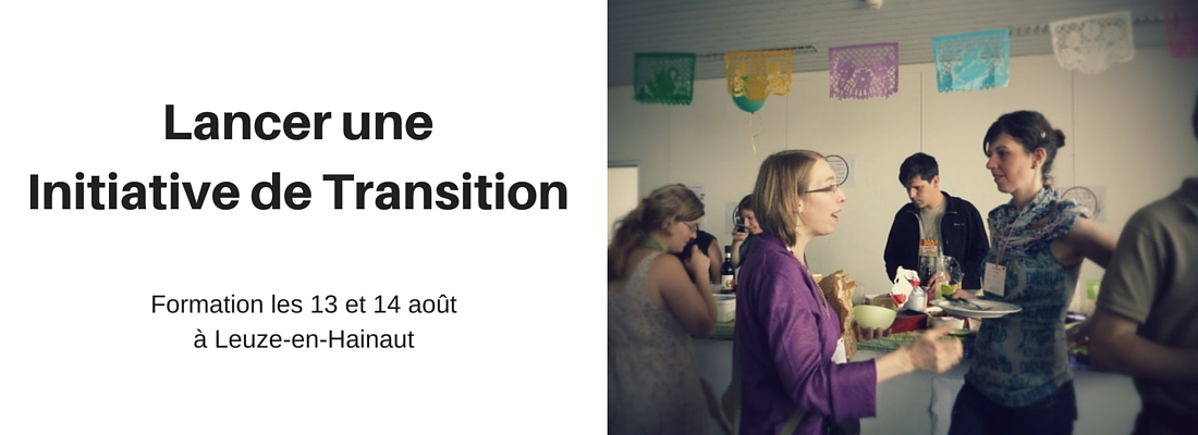 Formation « Lancer une initiative de transition » les 13 et 14 août