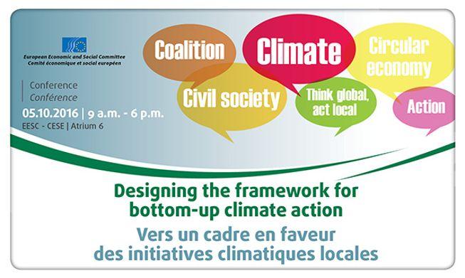 EESC - Vers un cadre en faveur des initiatives climatiques locales