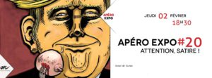 Apéro Expo#20 Attention Satire! @ ARC |  |  |
