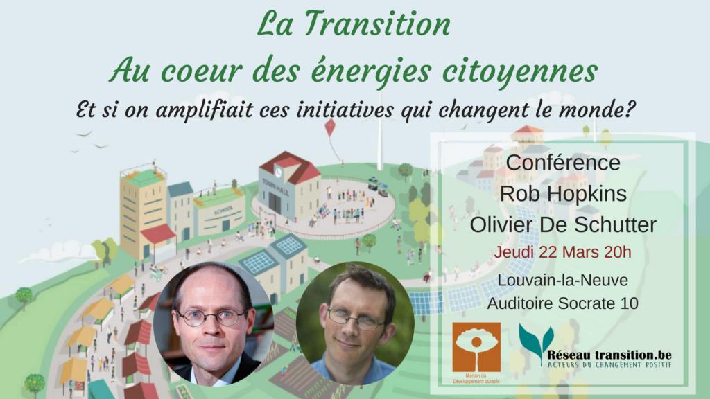 Conférence de Rob Hopkins et Olivier De Schutter – LLN @ Auditoire Socrate 10