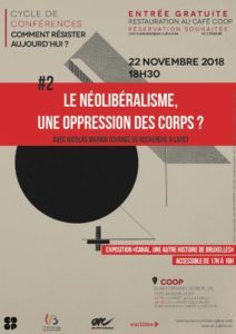 Cycle de conférences Comment résister? - #2 Le néolibéralisme, une oppression des corps? @ COOP | | |