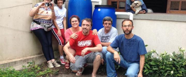 Collecte de l'eau de pluie à São Paulo, Brésil