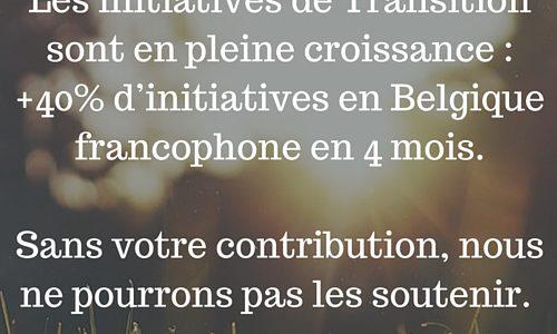 Votre contribution est nécessaire pour soutenir les nouvelles initiatives de Transition