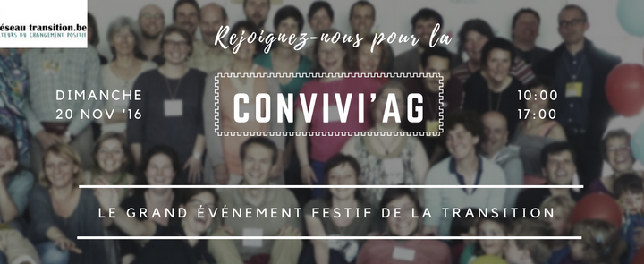 La conviviAG, ce grand événement festif de la Transition du 20 novembre
