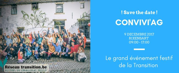 A vos agendas : le 9 décembre 2017, c'est la Convivi'AG du Réseau Transition!
