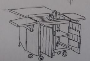 Atelier palettes : Construction d'un meuble-cuisine mobile @ Chapelle Saint Roch | Soignies | Wallonie | Belgique