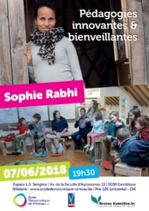 Conférence de Sophie Rabhi - Pédagogies innovantes & bienveillantes @ Espace L.S. Senghor | | |
