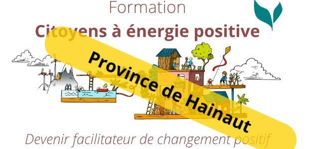 Formation «Citoyens à énergie positive» – Province de Hainaut