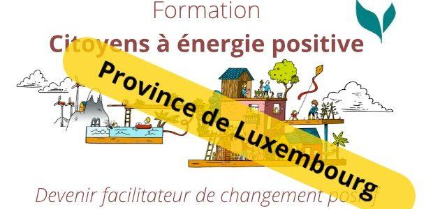 Formation «Citoyens à énergie positive» – Province du Luxembourg