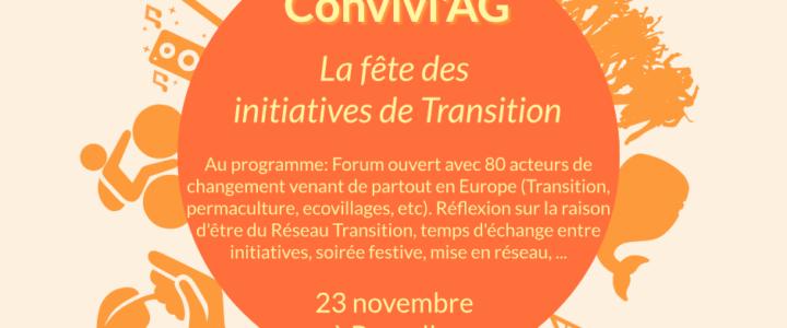Convivi'AG de la Transition ce 23 novembre – La fête des initiatives de Transition