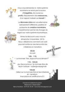 Monnaie Libre et Transition @ Ferme de Vévy Wéron |  |  |