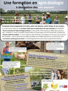 Formation en agro-écologie à destination des néo-paysans et des collectifs en quête d'autonomie alimentaire @ Ferme de Vévy wéron (Wépion, province de Namur) |  |  |