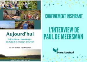 Confinement inspirant: l'interview de Paul De Meersman sur Radio Sud