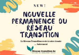 Nouvelle permanence du Réseau Transition Belgique
