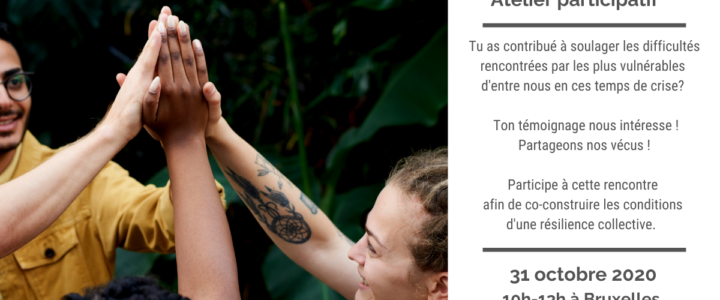 31/10/2020 Atelier participatif : co-construire les conditions d'une résilience collective en temps de crise