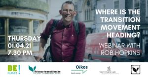"WEBINAIRE avec Rob Hopkins : ""Où se dirige le mouvement de transition ?"" le 1er avril 2021"