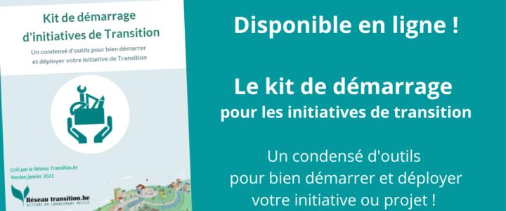 NOUVEAU : le kit de démarrage des initiatives de Transition